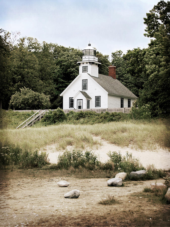 Lighthouse Photograph - Mission Point Lighthouse by Christy Woods