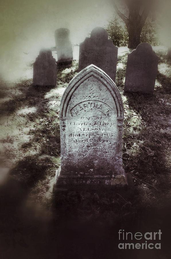 Tomb Photograph - Misty Graveyard by Jill Battaglia