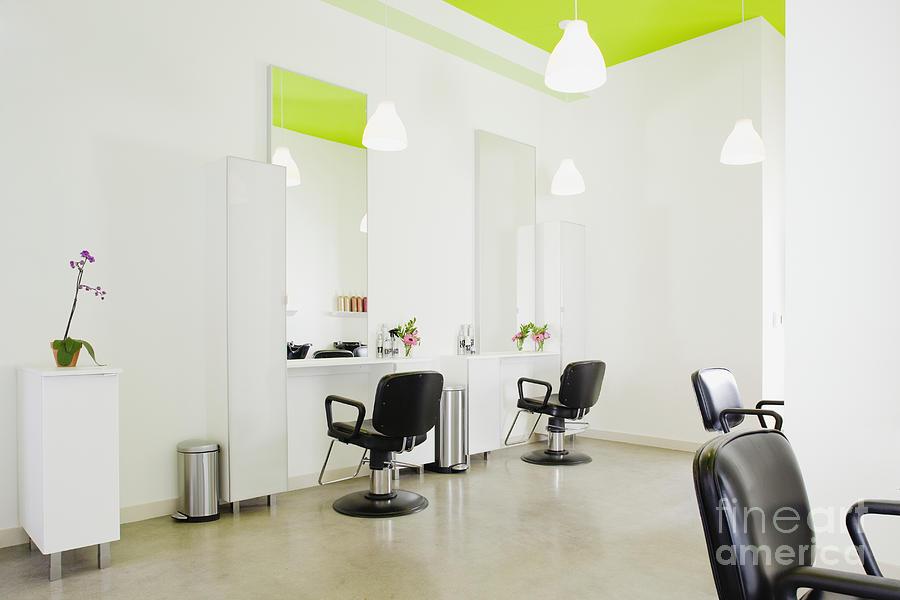modern hair salon photograph by inti st clair