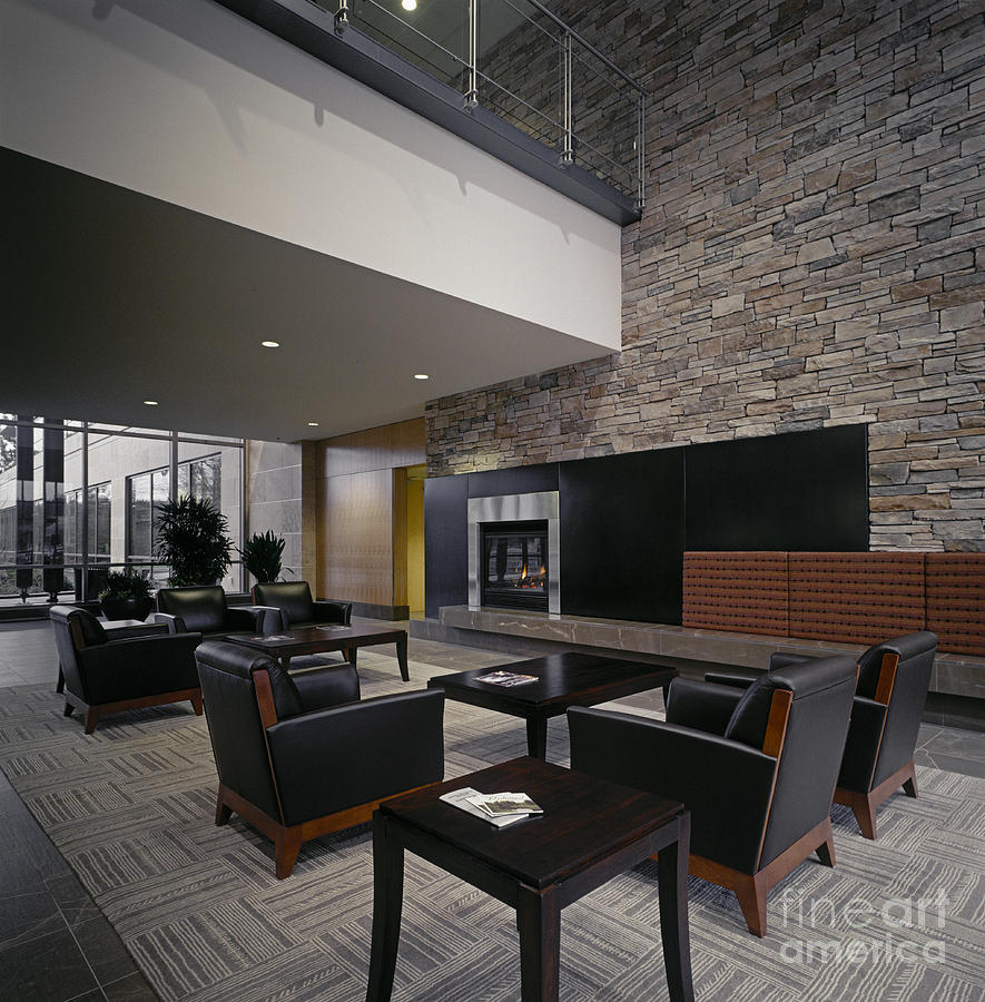 Modern Lobby Photograph By Robert Pisano