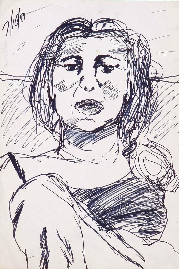 Mom Drawing - Mom by Iris Gill