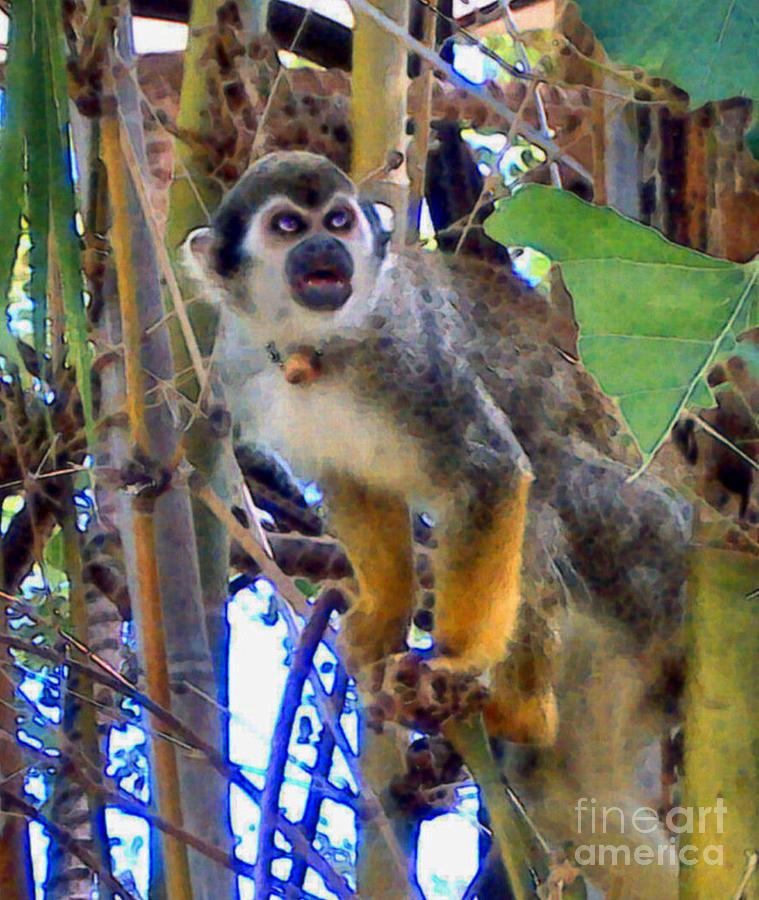 Monkeys Painting - Monkeyshines by Elinor Mavor