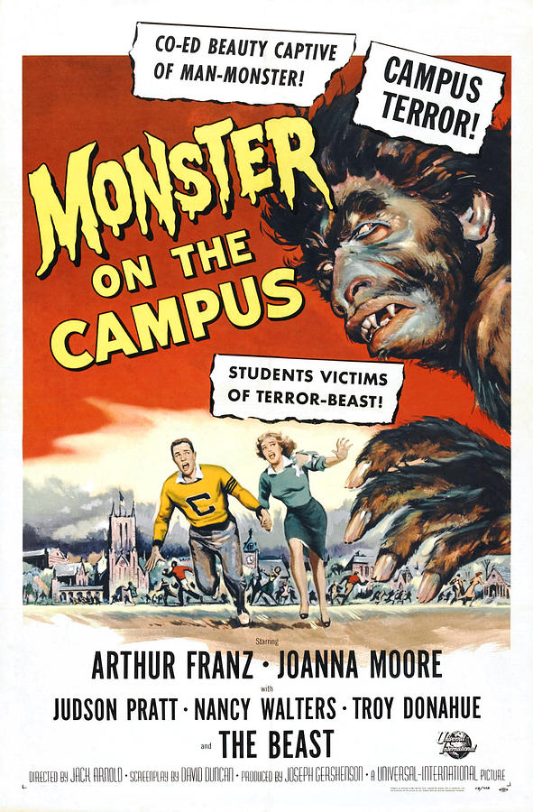 1950s Poster Art Photograph - Monster On The Campus, Arthur Franz by Everett