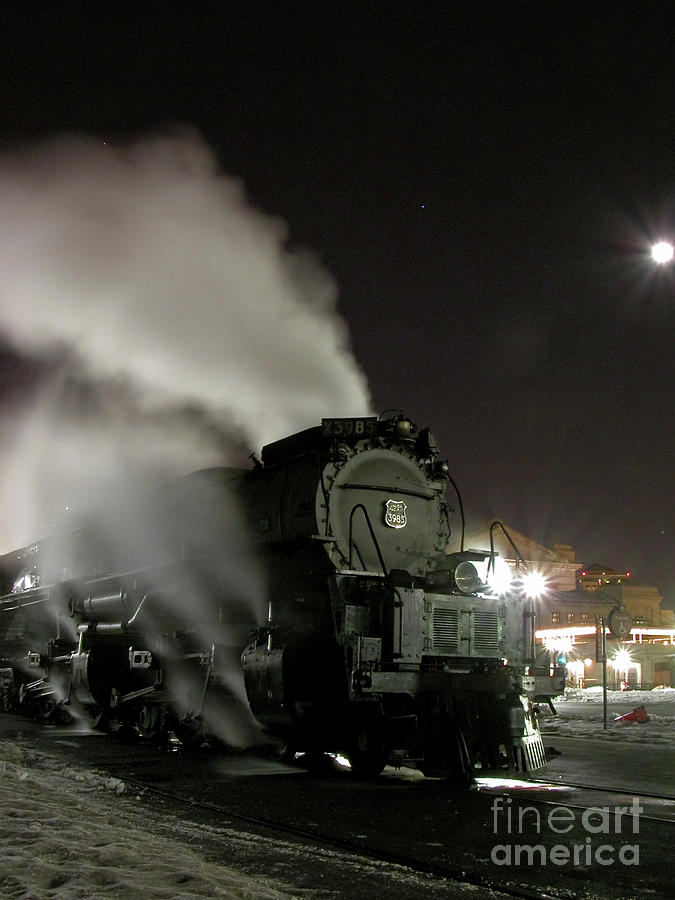 Up Photograph - Moon And Steam by Tim Mulina