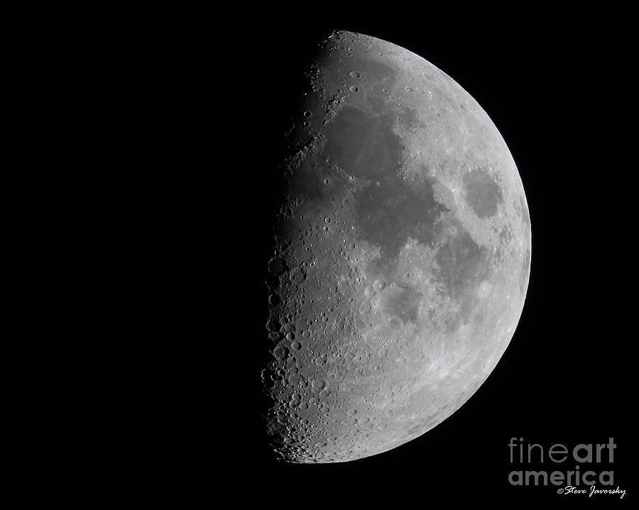 Moon Photograph - Moon by Steve Javorsky