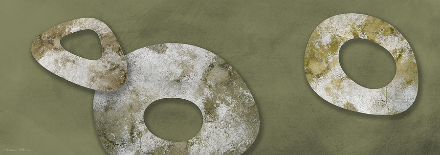 Abstract Digital Art - Moon Stones by Nomi Elboim