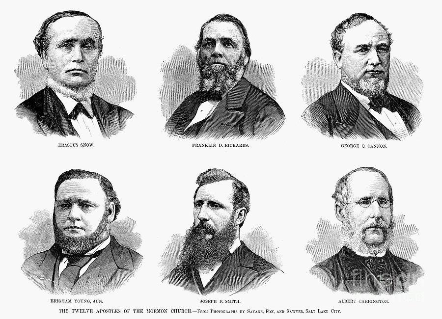 1877 Photograph - Mormon Apostles, 1877 by Granger