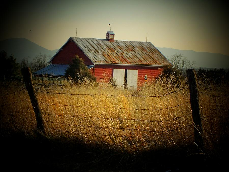 Barn Photograph - Morning Barn by Michael L Kimble