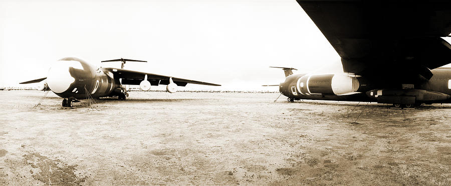 Stored Photograph - Mothballed C-141s by Jan W Faul