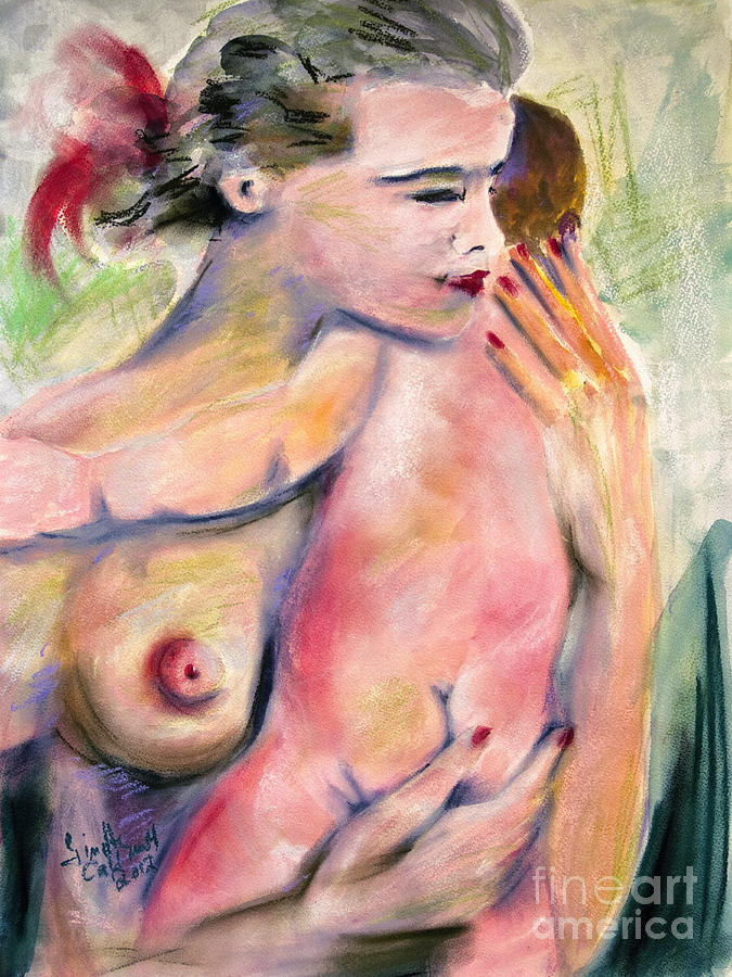 Mothers Painting - Motherhood Watercolor And Pastel by Ginette Callaway