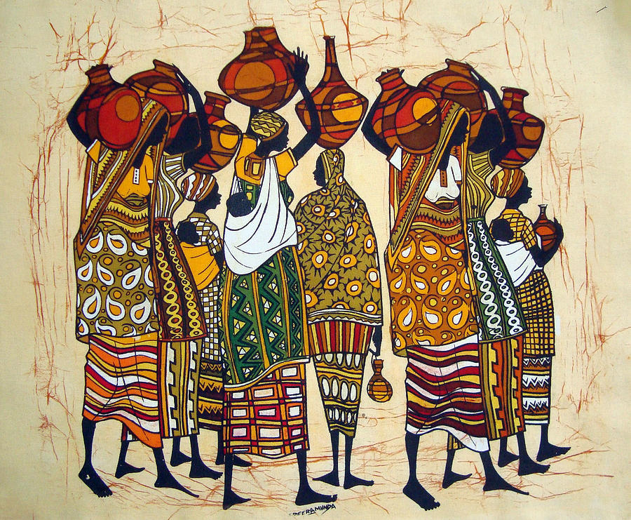 Well Tapestry - Textile - Mothers From The Well by Joseph Kalinda