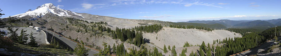 Americas Photograph - Mount Hood Pano by Roderick Bley