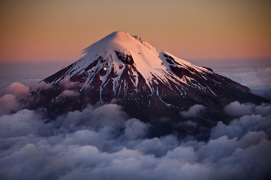 Mount Taranaki Above The Clouds New Photograph by Colin Monteath