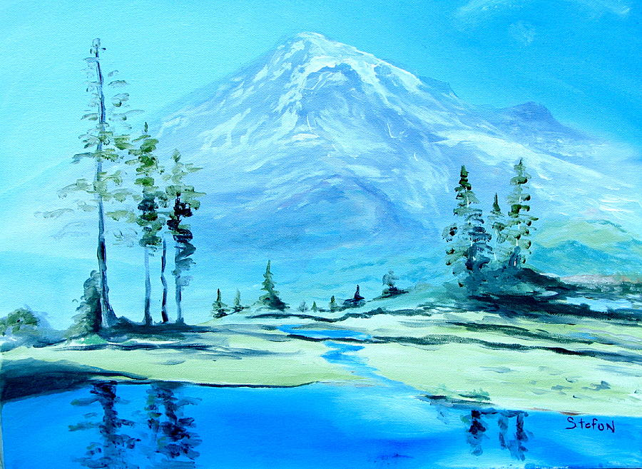 Mt. Rainier Painting - Mt. Rainier by Stefon Marc Brown