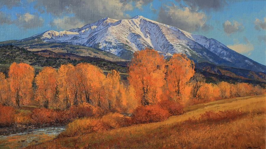 Landscape Painting - Mt. Sopris by Lanny Grant