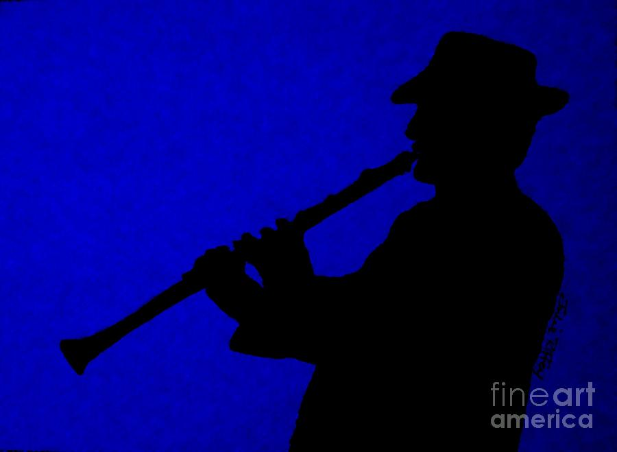 Jazz Drawing - Music Man by Julie Brugh Riffey
