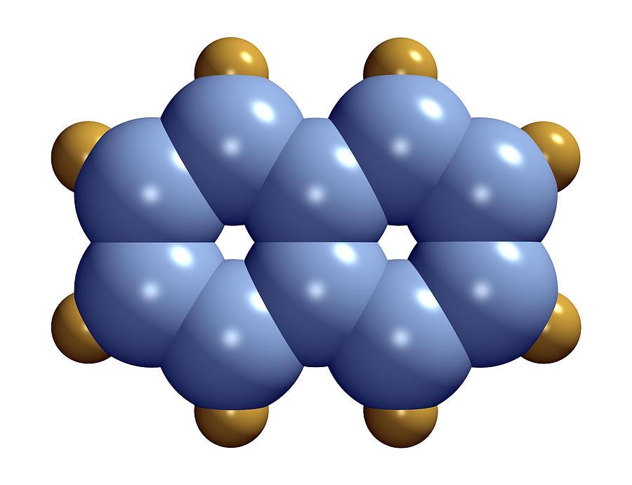 Naphthalene Photograph - Naphthalene Molecule by Dr Mark J. Winter
