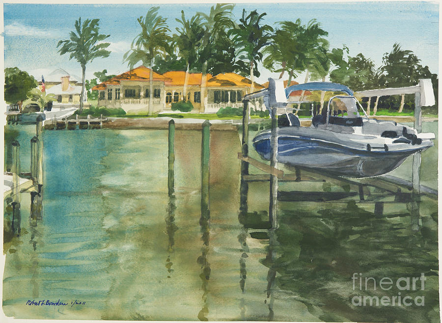 Naples Florida Canal Painting by Robert Bowden