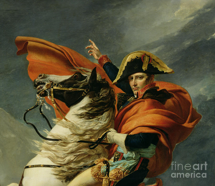Napoleon crossing the alps on 20th may 1800 painting by for Napoleon horse painting