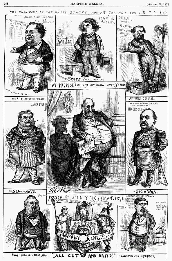 1871 Photograph - Nast: Tweed Ring Cartoon by Granger