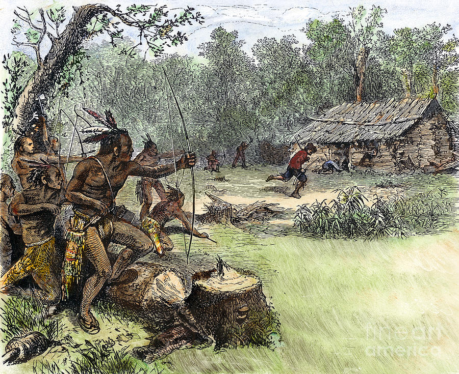 Native American Attack C1640 1 Photograph By Granger