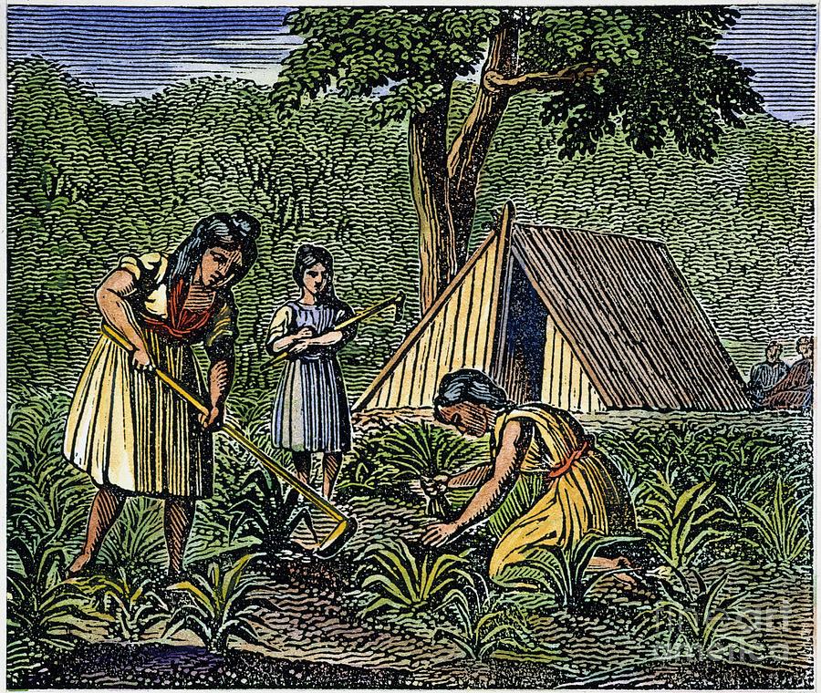 Native American Women: Farming, 1835 Photograph by Granger