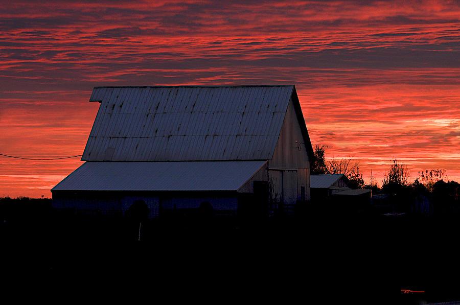 Barn Photograph - Near Kirklin Indiana by Marsha Williamson Mohr