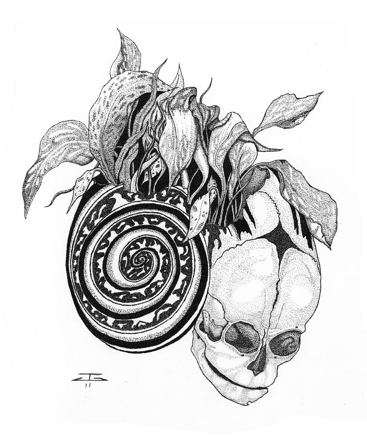 Necrosis Drawing by Jeff Gould
