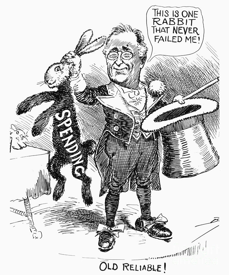 New Deal Cartoon 1938 Photograph By Granger
