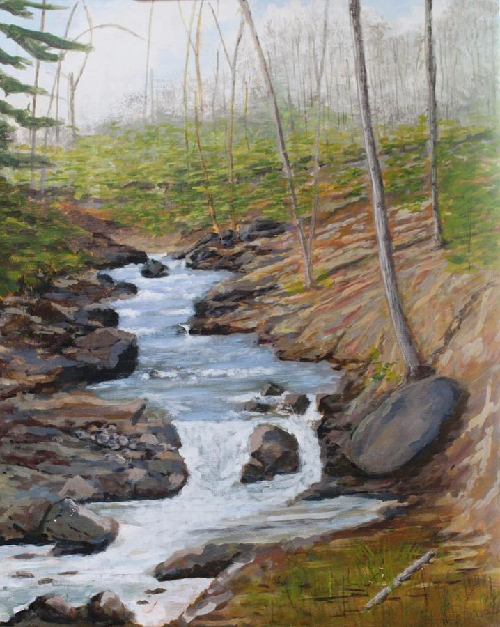 Landscape Painting - New Growth. Pretty River. Collingwood by Humphrey Carter
