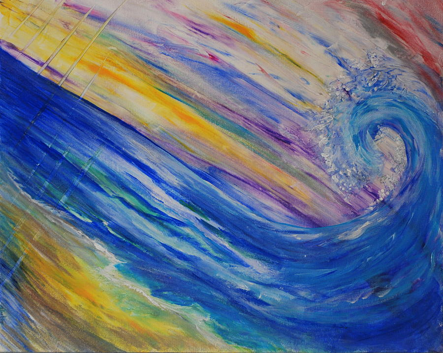 Rainbow Painting - New Wave by Tifanee  Petaja