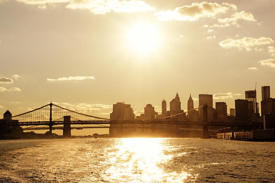 Nyc Photograph - New York City Sunset by Vivienne Gucwa