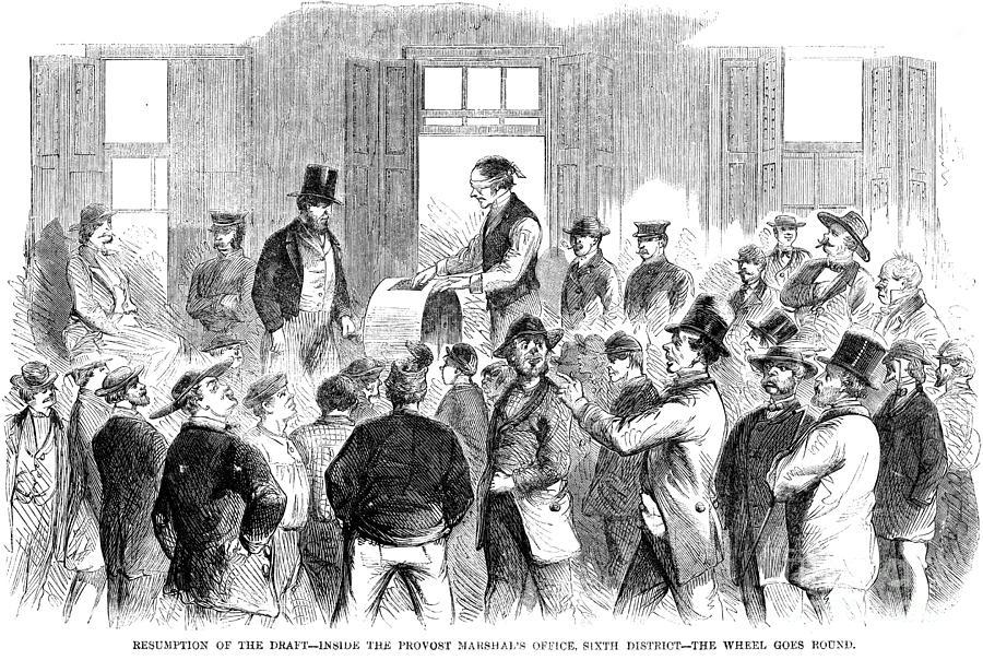 1863 Photograph - New York: Military Draft by Granger