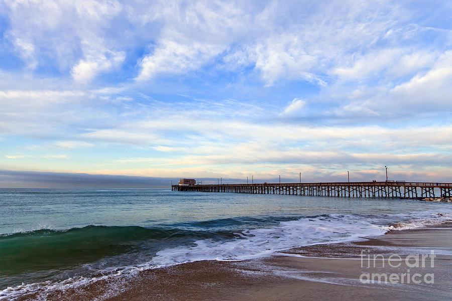 Balboa Photograph - Newport Beach Pier by Paul Velgos