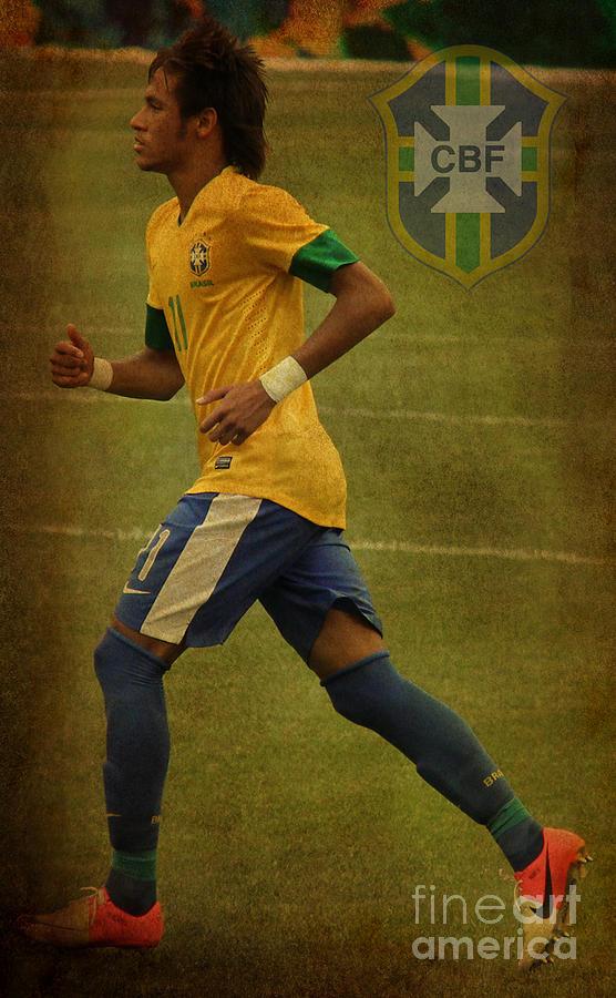 Lee Dos Santos Photograph - Neymar Junior by Lee Dos Santos