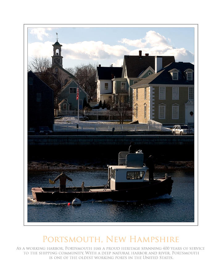 Portsmouth Photograph - Nh Working Harbor by Jim McDonald Photography