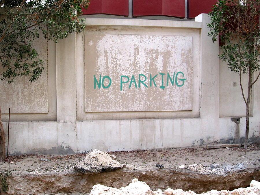 Doha Photograph - No Parking by David Ritsema