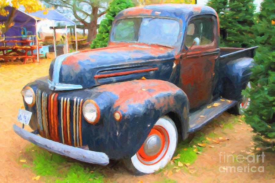 Nostalgic Rusty Old Truck . 7d10270 Photograph by Wingsdomain Art ...