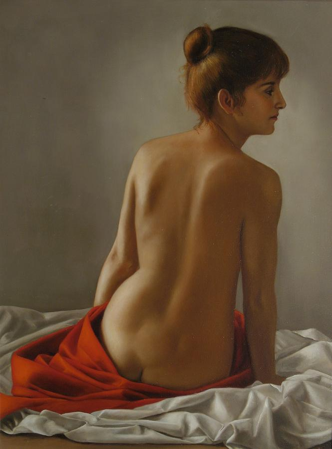 Nudo Di Schiena Painting by Gianluca Mantovani