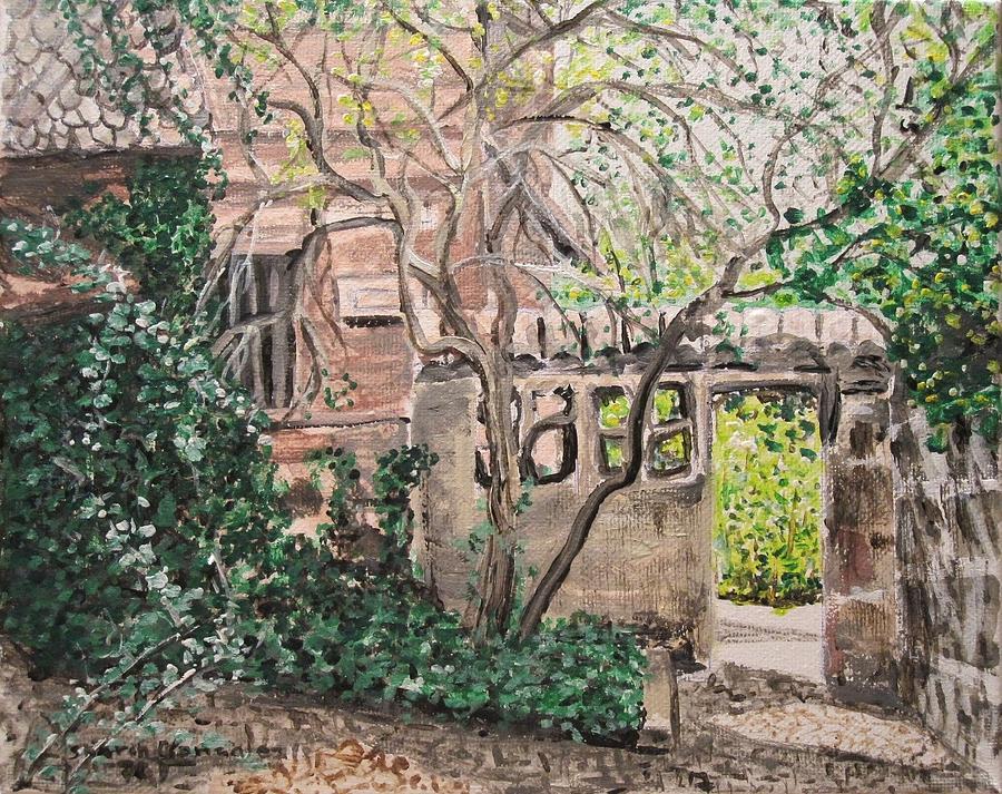 Germany Painting - Nuremberg Castle Garden by Sharon  De Vore