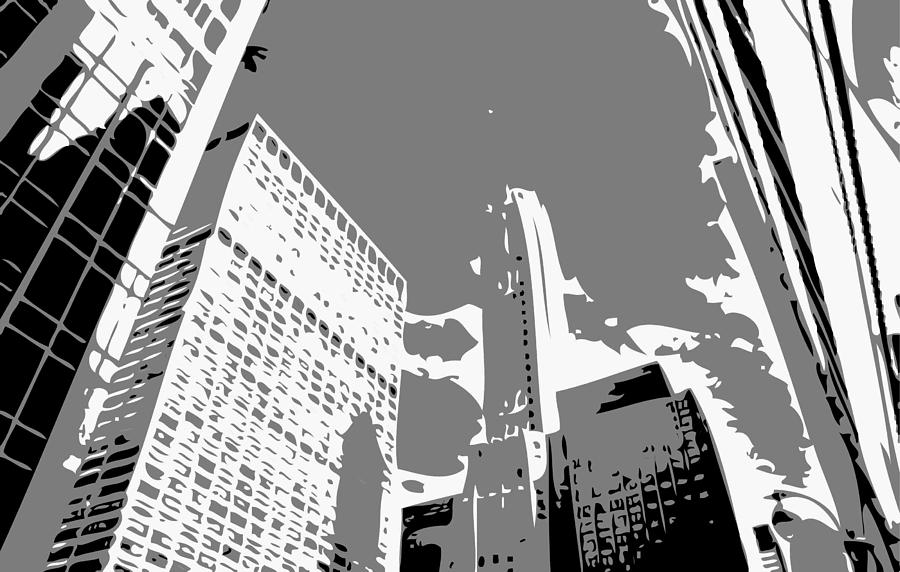 New York City Skyline Photograph - Nyc Looking Up Bw3 by Scott Kelley