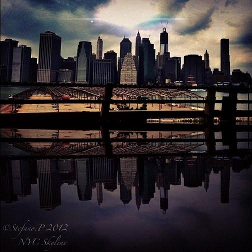Skyscrapers Photograph - Nyc Reflection by Stefano Papoutsakis