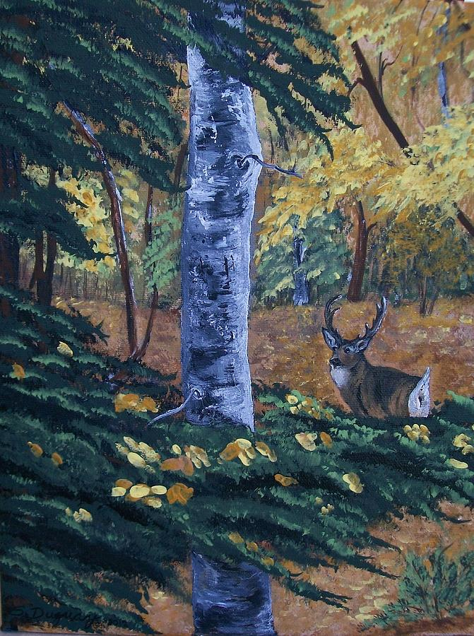 Landscape Painting - #1 Of A Triptych by Sharon Duguay
