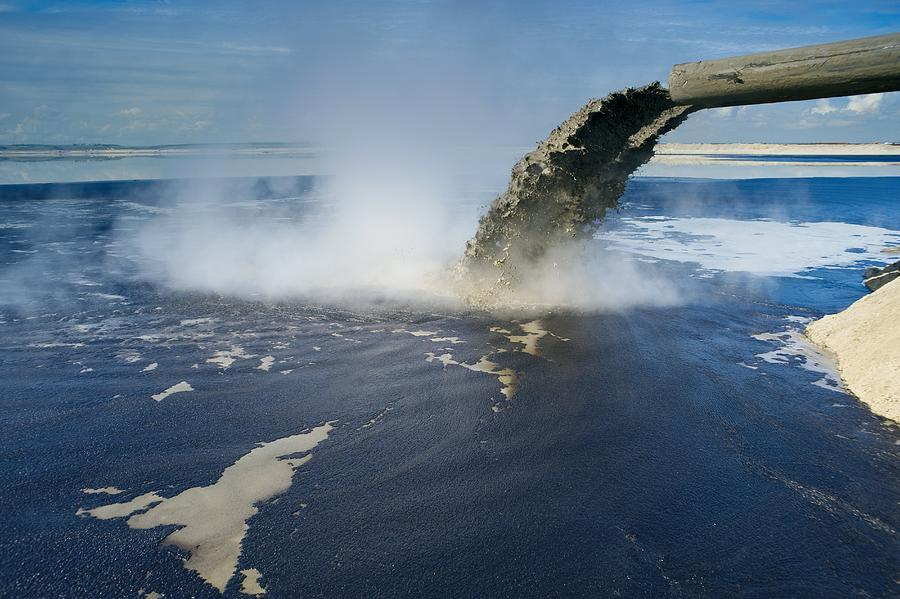 Pollution Photograph - Oil Industry Pollution by David Nunuk