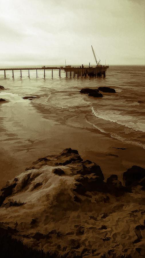 Carpinteria Photograph - Oil Pier by Ron Regalado