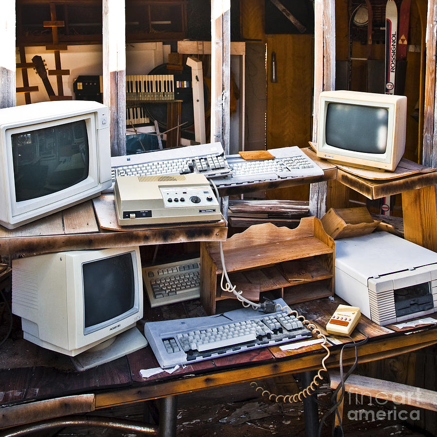Abandoned Photograph - Old Computers In Storage by Eddy Joaquim