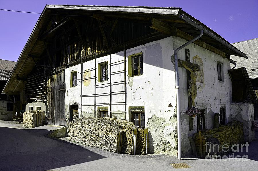 House Photograph - Old Farm House In Tyrol by Elzbieta Fazel