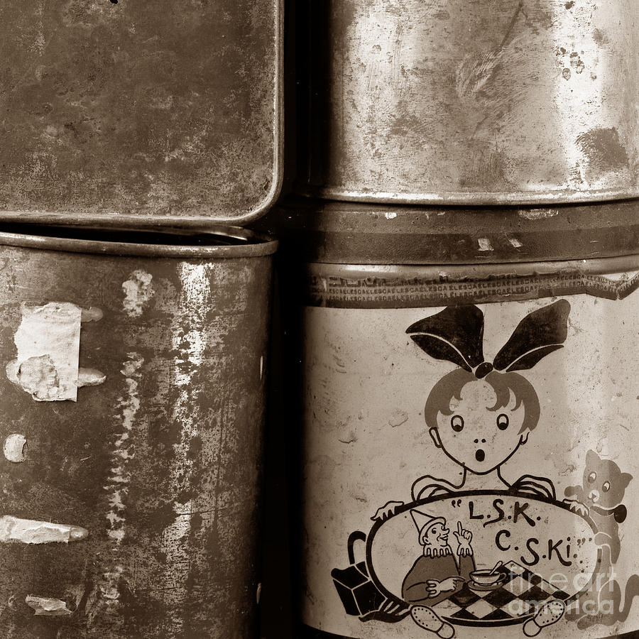 Studio Photograph - Old Fashioned Iron Boxes. by Bernard Jaubert