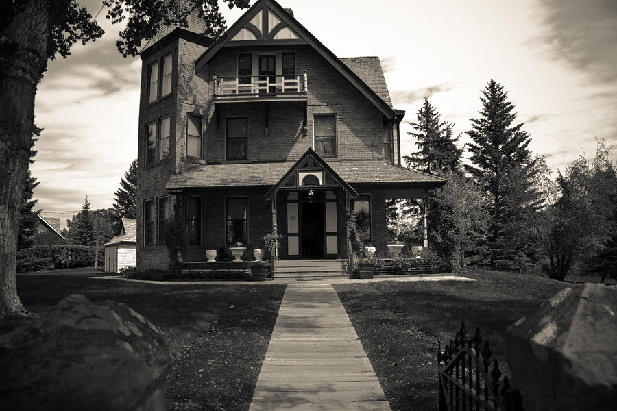 Black and white old house