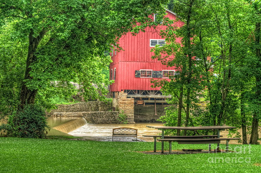 Grist Mill Photograph - Old Indian Mill by Pamela Baker